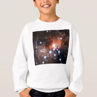 Galaxy Print Space Stars Twinkle Orange Nebula Sky Sweatshirt