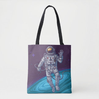 Galaxy Print. Tote Bag