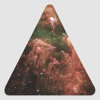 Galaxy Print Triangle Sticker