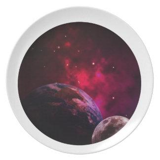 Galaxy Purple 1 - purple Gláxia Plate