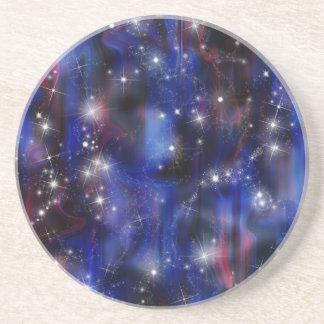 Galaxy purple beautiful night starry sky image coaster