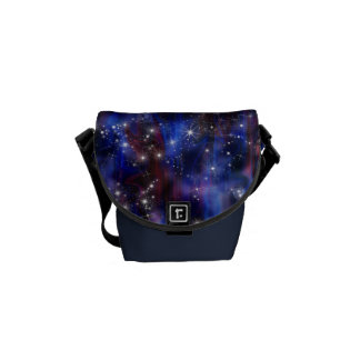 Galaxy purple beautiful night starry sky image courier bag