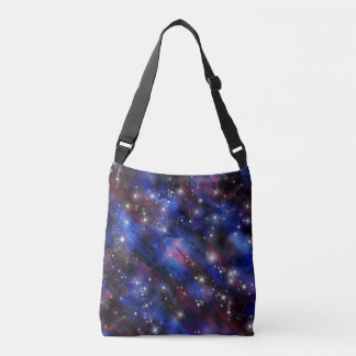 Galaxy purple beautiful night starry sky image crossbody bag