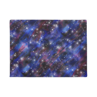 Galaxy purple beautiful night starry sky image doormat