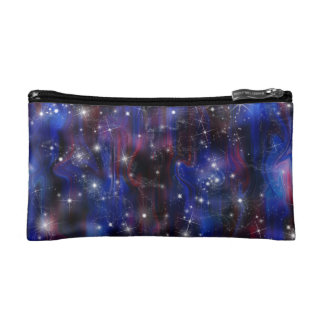 Galaxy purple beautiful night starry sky image makeup bag