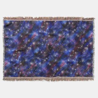 Galaxy purple beautiful night starry sky image throw blanket