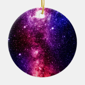 Galaxy Round Ceramic Ornament