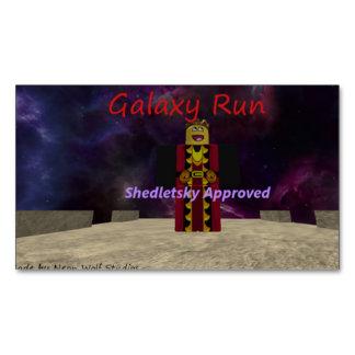 Galaxy Run Business Card Magnet