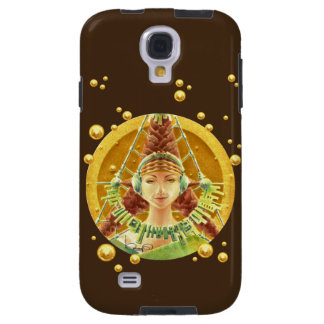 Galaxy S4 Case - Portrait w/ Headphones/Chocolate
