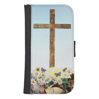Galaxy S4 Christian cross Samsung S4 Wallet Case