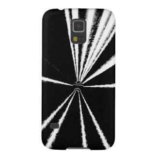 Galaxy S5 white starburst lines on black case