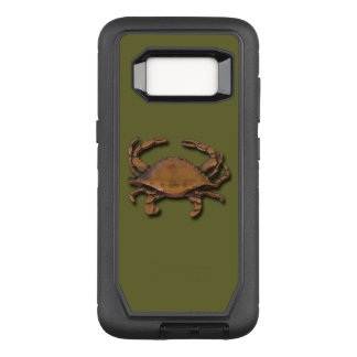 Galaxy S8 Copper Crab on Green OtterBox Defender Samsung Galaxy S8 Case
