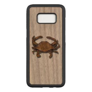 Galaxy S8 Copper Crab on Walnut Carved Samsung Galaxy S8 Case