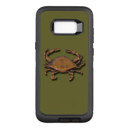 Galaxy S8 Plus Copper Crab on Green OtterBox Defender Samsung Galaxy S8+ Case
