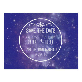 Galaxy Save The Date Postcard