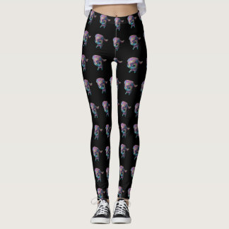 Galaxy Sheep Black Leggings