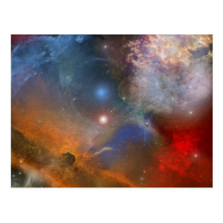 Galaxy Space Abstract Art Postcard