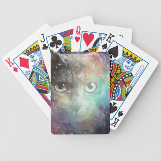 GALAXY SPACE CAT BICYCLE PLAYING CARDS
