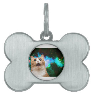 GALAXY SPACE CAT PET TAG
