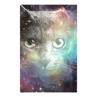 GALAXY SPACE CAT STATIONERY DESIGN