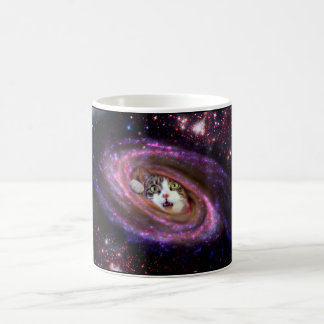 Galaxy Space Cats LOL Funny Coffee Mug