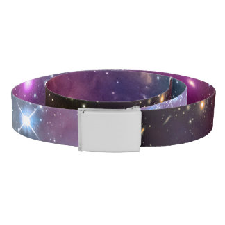Galaxy space hipster background double sided belt