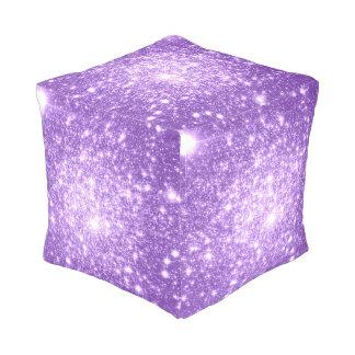 Galaxy Stars : Astral Glitter Purple Pouf
