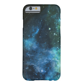 Galaxy Stars Nebula iPhone Blue Green  Barely There iPhone 6 Case