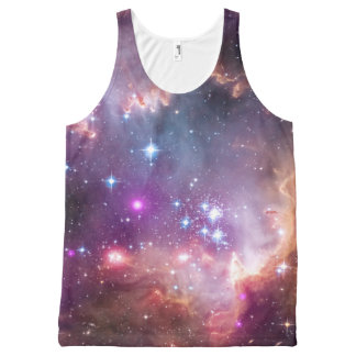 Galaxy stars nebula space hipster star photo All-Over-Print tank top