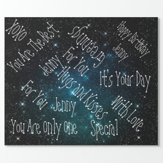 Galaxy Stars Personalized Birthday Space