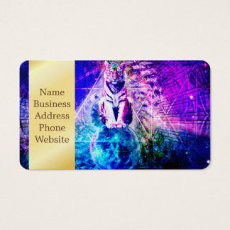 Galaxy tiger - pink tiger - 3d tiger - laser tiger business card