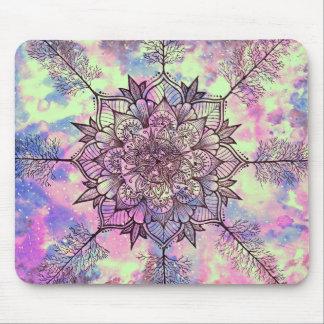 Galaxy Tree Mandala Mouse Pad