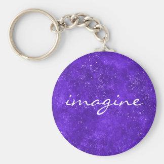 Galaxy ultra violet keychain