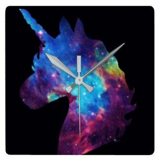 Galaxy unicorn clock