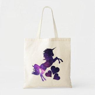 Galaxy Unicorn Love Tote Bag