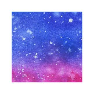 Galaxy Watercolour Canvas Print