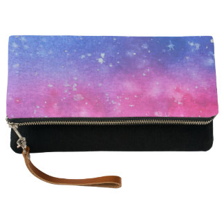 Galaxy Watercolour Clutch