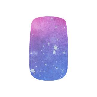 Galaxy Watercolour Minx Nail Art