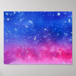 Galaxy Watercolour Poster