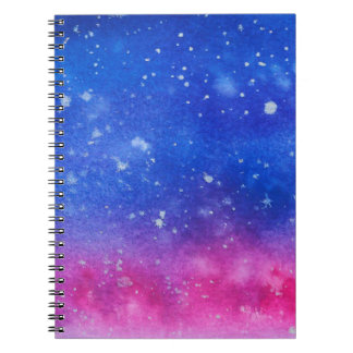 Galaxy Watercolour Spiral Notebook