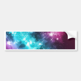 Galaxy with stars bumper sticker