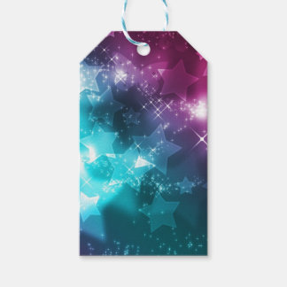 Galaxy with stars gift tags