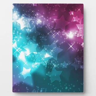 Galaxy with stars plaque