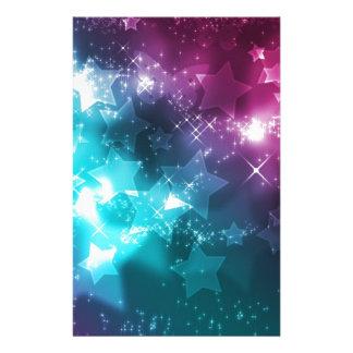 Galaxy with stars stationery