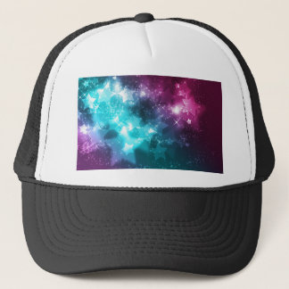 Galaxy with stars trucker hat