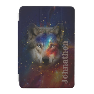 Galaxy Wolf For Men And Teen Boys iPad Mini Cover