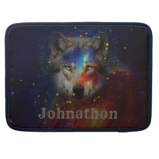 Galaxy Wolf For Men And Teen Boys Sleeve For MacBooks