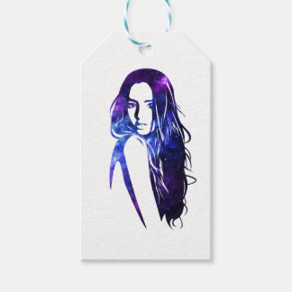 Galaxy woman - Woman Galaxy Gift Tags