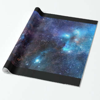 Galaxy Wrapping Paper  2- With Black Border