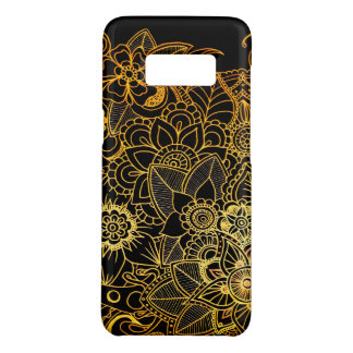 GalaxyS8 Case Barely There Floral Doodle Gold G523